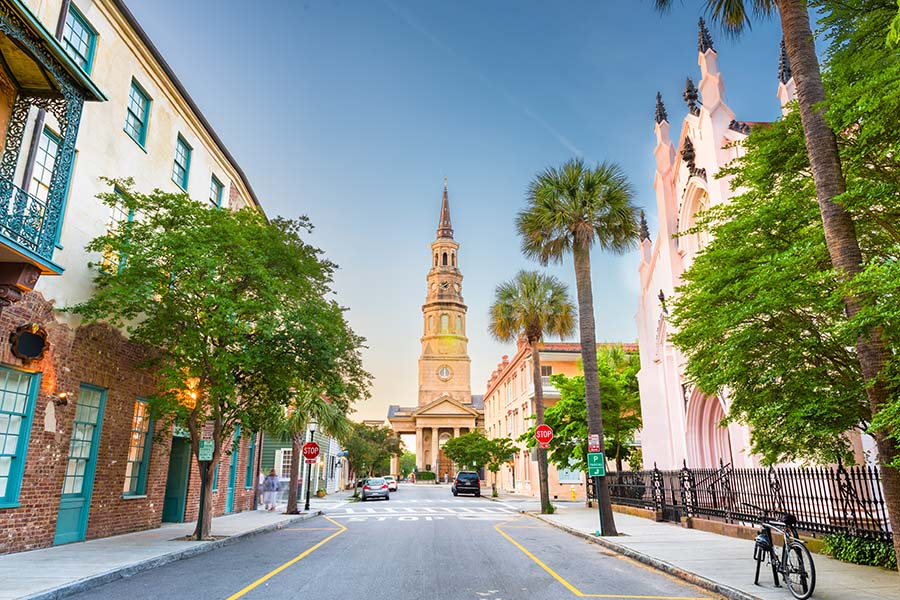 South Carolina - View of Historic French Quarter in Charleston South Carolina